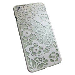 iPhone 6S TPU Floral Gel Case - White