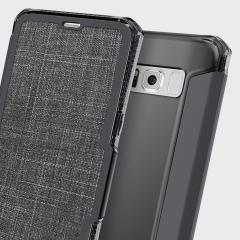 olixar genuine leather samsung galaxy s8 plus wallet case black 3