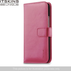 ITSKINS Wallet Book Leather-Style Wiko Bloom Case - Fuchsia