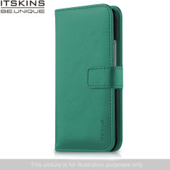 ITSKINS Wallet Book Leather-Style Wiko Bloom Case - Turquoise