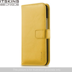 ITSKINS Wallet Book Leather-Style Wiko Bloom Case - Yellow