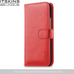 ITSKINS Wallet Book Leather-Style Wiko Rainbow Case - Coral