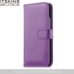 ITSKINS Wallet Book Leather-Style Wiko Rainbow Case - Purple