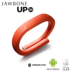Jawbone UP24 Activity Tracking Bluetooth Wristband - Persimmon Medium