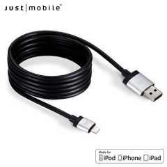 Just Mobile AluCable Premium 5ft / 1.5m Lightning Cable - Black