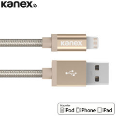 Kanex Aluminium Tip Braided Lightning Cable 1.2M - Gold
