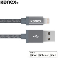 Kanex Aluminium Tip Braided Lightning Cable 2M - Space Grey