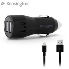 Kensington Powerbolt 3400 mA Dual Car Charger with Lightning Cable
