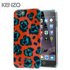 Kenzo Leopard iPhone 6 Designer Case - Orange