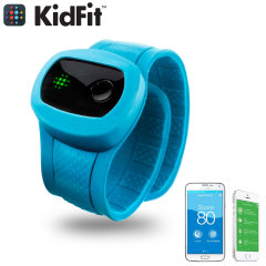 KidFit Childrens Wireless Fitness Tracking Wristband - Blue