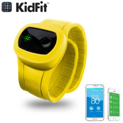 KidFit Childrens Wireless Fitness Tracking Wristband - Yellow