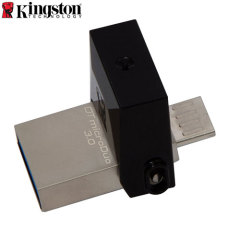 Kingston DataTraveler microDuo 3.0 Micro USB & USB Memory Stick - 64GB