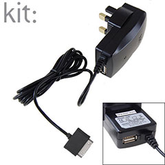 Kit: Apple Mains Charger With Spare USB Port