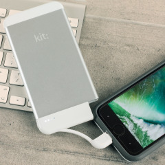 Kit Executive 4,100mAh Portable MFi Lightning Power Bank - Silver