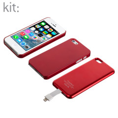 Kit Magnetic Battery Case for iPhone 5S / 5 - Red