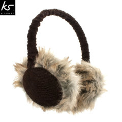 KitSound Audio Earmuff Headphones - Brown