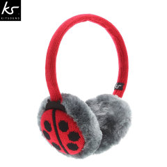 KitSound Audio Earmuff Headphones - Ladybird