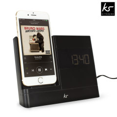 KitSound X-Dock 2 Lightning Clock Radio Dock for iPhone 5S / 5C / 5