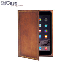 KleverCase iPad Mini 3/2/1 Book Case - Vintage Hardback