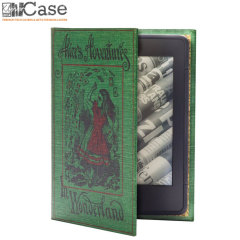 KleverCase Kindle Paperwhite 6 Inch Book Case - Alice In Wonderland
