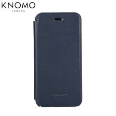 Knomo Leather Folio iPhone 6 Wallet Case - Air Force Blue