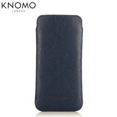 Knomo Slim Sleeve iPhone 6S / 6 Leather Pouch - Air Force Blue