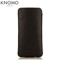 Knomo Slim Sleeve iPhone 6S / 6 Leather Pouch - Black