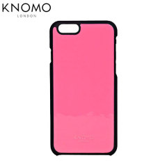 Knomo Snap On iPhone 6 Leather Case - Fluro Pink