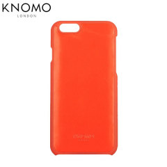 Knomo Snap On iPhone 6 Leather Case - Tomato Red