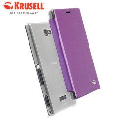 Krusell Boden Sony Xperia M2 FlipCover Case - Purple