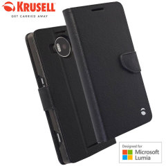 Krusell Boras Microsoft Lumia 950 XL Folio Wallet Case - Black