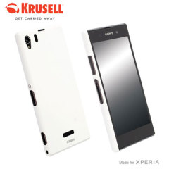 Krusell ColorCover Case for Sony Xperia Z1 - White Metallic