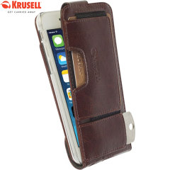 Krusell Ekero iPhone 6S / 6 Leather-Style Flip Wallet Case - Brown