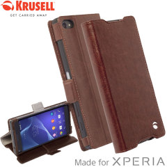Krusell Ekero Sony Xperia Z5 Compact Folio Wallet Case - Brown