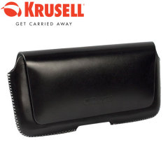 Krusell Hector 5XL Leather Pouch Case - Black