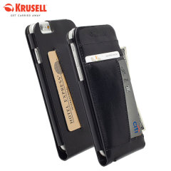 Krusell Kalmar iPhone 6 Leather Wallet Case - Black