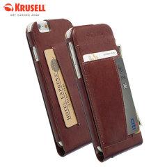 Krusell Kalmar iPhone 6 Leather Wallet Case - Brown