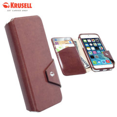 Krusell Kalmar iPhone 6S / 6 Flip Wallet Case - Brown