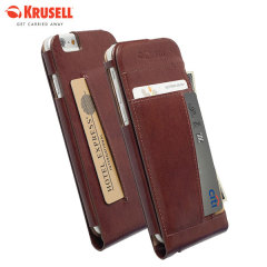 Krusell Kalmar iPhone 6S / 6 Leather Wallet Case - Brown