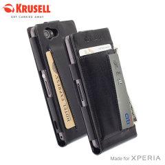 Krusell Kalmar Sony Xperia Z1 Wallet Case - Black
