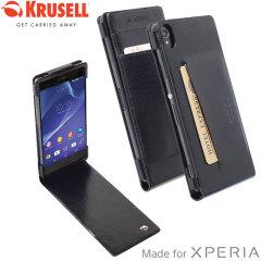 Krusell Kalmar Sony Xperia Z3 Wallet Case - Black