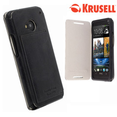 Krusell Kiruna FlipCover Leather Case for HTC One M7 - Black