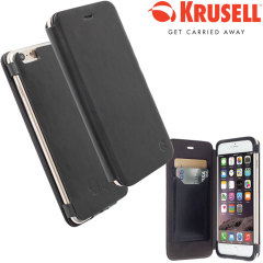 Krusell Kiruna iPhone 6S Plus / 6 Plus Leather Flip Case - Black