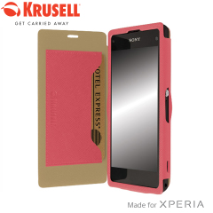 Krusell Malmo FlipCover for Xperia Z1 Compact - Pink