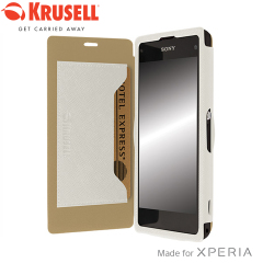 Krusell Malmo FlipCover for Xperia Z1 Compact - White