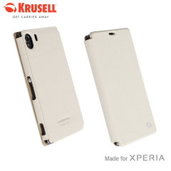 Krusell Malmo Flipcover for Xperia Z1 - Cream