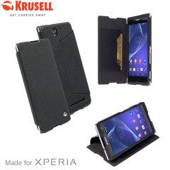 Krusell Malmo FlipCover Sony Xperia C3 Wallet Case - Black