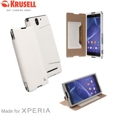 Krusell Malmo FlipCover Sony Xperia C3 Wallet Case - White