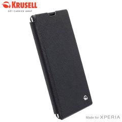 Krusell Malmo Sony Xperia T3 Flip Case - Black