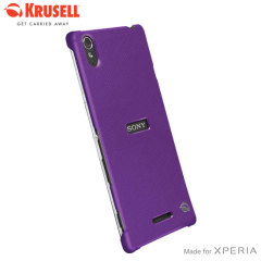Krusell Malmo Texturecover Sony Xperia T3 Case - Purple